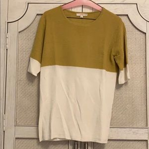Yellow and cream blouse